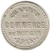"""5 Centimes (Bougie Chamber of Commerce; Curved """"5"""" & Large """"C"""") -  obverse"""