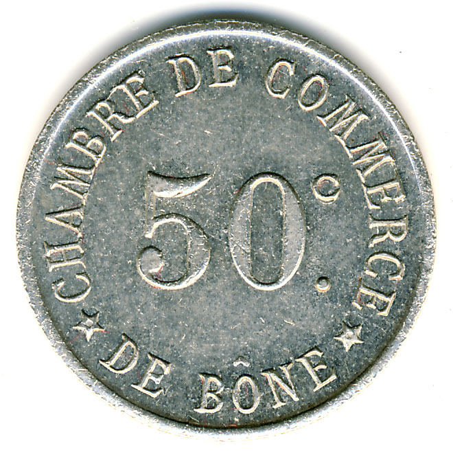 50 centimes chambre de commerce b ne alg rie numista for Chambre de commerce algerie