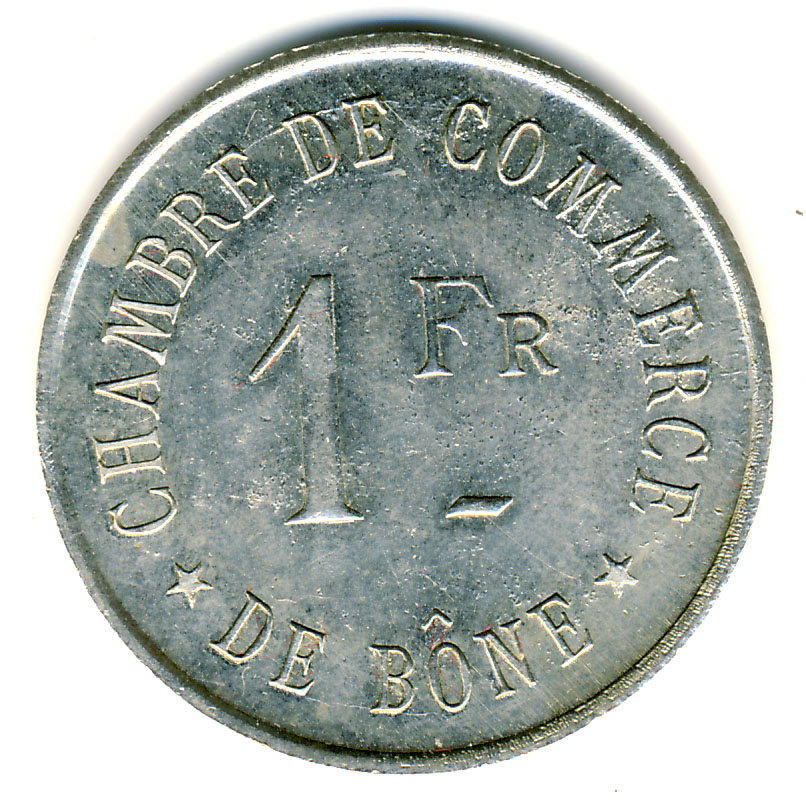 1 franc chambre de commerce b ne alg rie numista for Chambre de commerce algerie