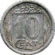 10 Centimes (Constantine Chamber of Commerce) -  reverse