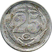 25 Centimes (Oran Chamber of Commerce) -  reverse