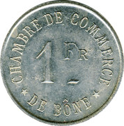 1 Franc (Bône Chamber of Commerce) -  reverse