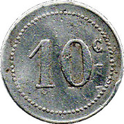 10 Centimes (Bône Chamber of Commerce) -  reverse