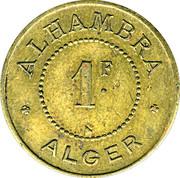 1 Franc (Alhambra - Alger) -  reverse