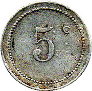 5 Centimes (Bône Chamber of Commerce) -  reverse