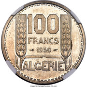 100 Francs (Pattern) -  reverse