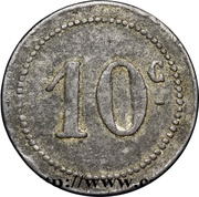 10 Centimes (Bougie Chamber of Commerce) -  reverse