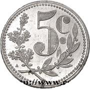 5 Centimes (Alger Chamber of Commerce; Essai) -  reverse
