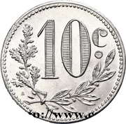 10 Centimes (Alger Chamber of Commerce) -  reverse