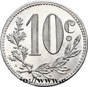 10 Centimes (Alger Chamber of Commerce) -  reverse