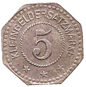 5 Pfennig - Algringen – reverse