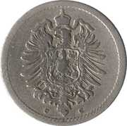 5 Pfennig - Wilhelm I (type 1 - large shield) – obverse