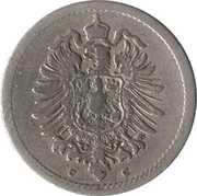 5 Pfennig - Wilhelm I (type 1 - large shield) -  obverse
