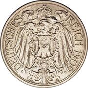 25 Pfennig - Wilhelm II – obverse