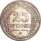 25 Pfennig - Wilhelm II – reverse