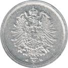 1 Pfennig - Wilhelm II (type 1 - large shield) – obverse