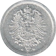 1 Pfennig - Wilhelm II (type 1 - large shield) – obverse