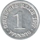 1 Pfennig - Wilhelm II (type 1 - large shield) – reverse