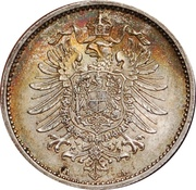 1 Mark - Wilhelm I (type 1 - large shield) -  obverse