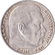 5 Reichsmark (Paul von Hindenburg) -  reverse