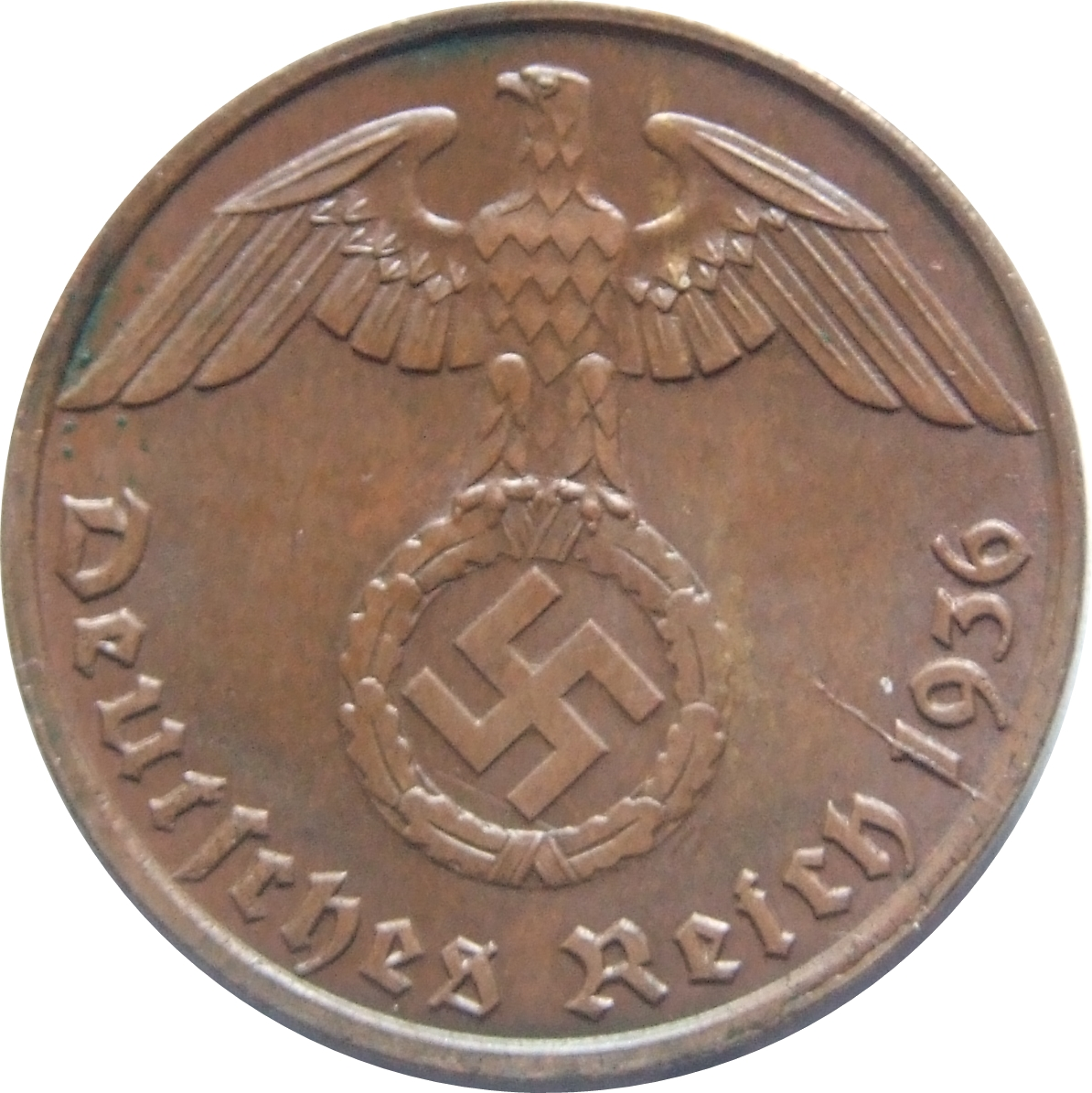 1 404 5 10 pfennig  with Swastika Lot of Germany 10 coins