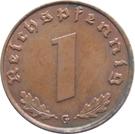 1 Reichspfennig – reverse