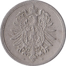 10 Pfennig - Wilhelm I (type 1 - large shield) – obverse