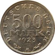 500 Mark -  reverse