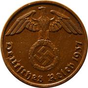 2 Reichspfennig – obverse
