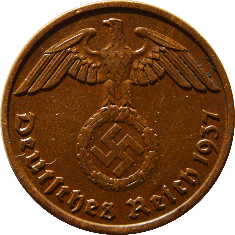 Collectible Coin FREE SHIP 1939 G NAZI GERMANY REICHSPFENNIG Nazi Bin 2