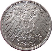 10 Pfennig - Wilhelm II (type 2 - small shield) -  obverse