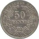 50 Pfennig - Wilhelm II – reverse