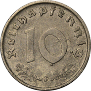 10 Reichspfennig (Allied Occupation) -  reverse