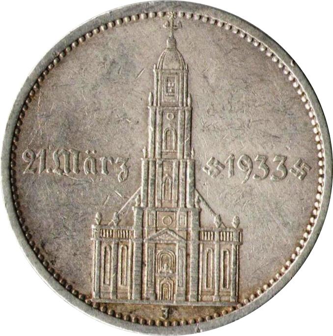 5 Reichsmark Potsdam Garrison Church Germany 1871 1948 Numista