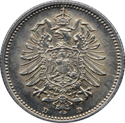 20 Pfennig - Wilhelm I (type 1 - large shield) – obverse