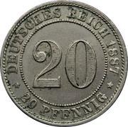 20 Pfennig - Wilhelm I – reverse