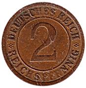 2 Reichspfennig -  reverse