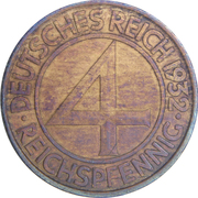 4 Reichspfennig -  reverse