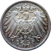 1 Mark - Wilhelm II (type 2 - small shield) – obverse