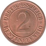2 Rentenpfennig -  reverse
