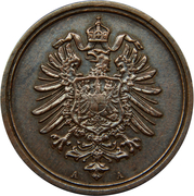 1 Pfennig - Wilhelm I (type 1 - large shield) – obverse
