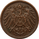 2 Pfennig - Wilhelm II (type 2 - small shield) – obverse