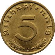 5 Reichspfennig -  reverse
