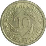 10 Reichspfennig -  reverse
