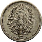 50 Pfennig - Wilhelm I (type 1 - large shield) – obverse