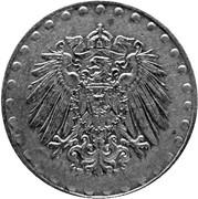 10 Pfennig - Wilhelm II (type 2 - small shield; beaded border) -  obverse