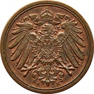 1 Pfennig - Wilhelm II (type 2 - small shield) – obverse