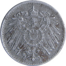 5 Pfennig - Wilhelm II (type 2 - small shield) – obverse