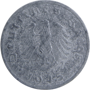 1 Reichspfennig (Allied Occupation) – obverse