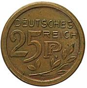 25 Pfennig - Wilhelm II (Trial strike) – obverse